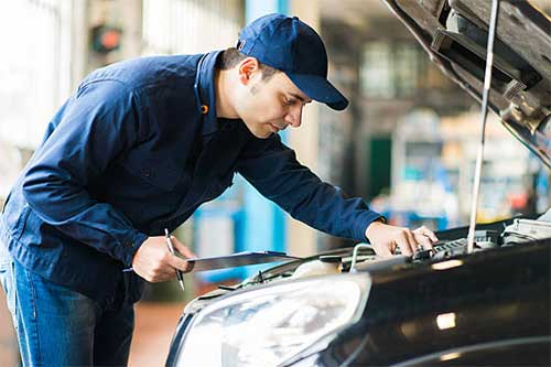 Auto electrician installation for cars and vehicles