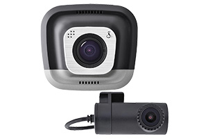 Cobra CDR-895 dual camera dash cam front and rear video
