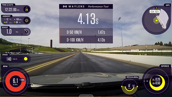 Waylens CDV Horizon performance racing dashcam