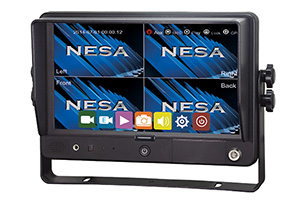 NESA NSM-90GPSDVR drive recorder and 4 screen LCD monitor
