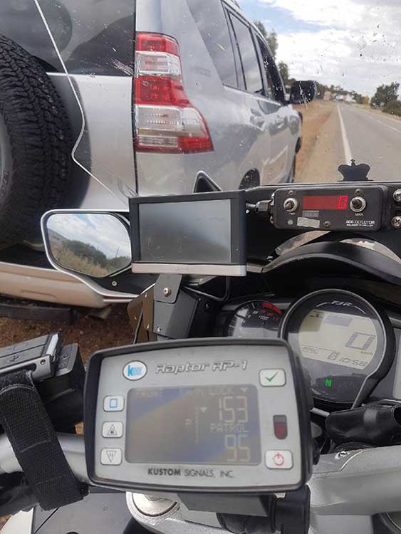 Read radar road speed detection gun